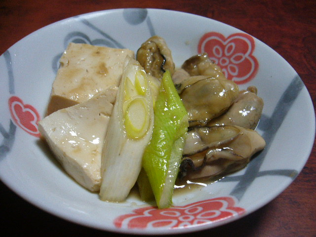 牡蠣の治部煮。。