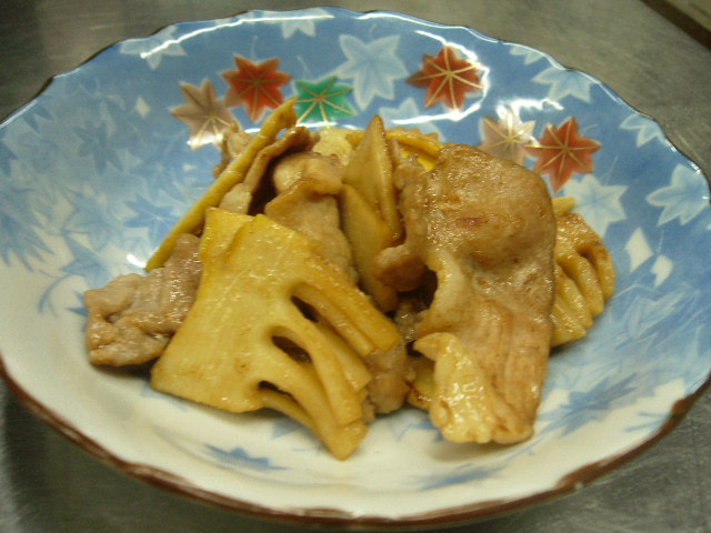 タケノコの豚肉炒め。。