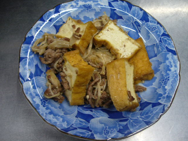 生姜タップリひき肉炒め。。
