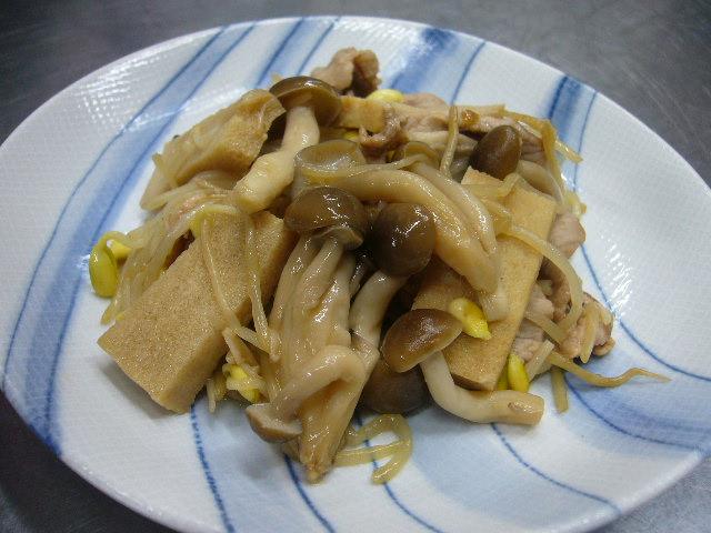 すみ豆腐の焼き肉のたれ炒め。。