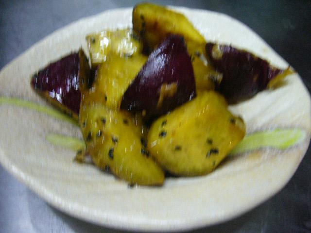 サツマイモの季節、大学芋。。
